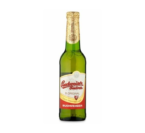 Budweiser Budvar Premium Lager Beer 330ml Bottle