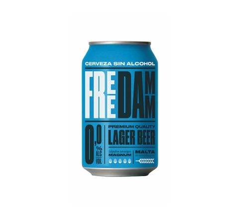 Estrella Free Damm Beer Cans 330ml